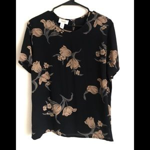 NWT Talbot Floral Blouse